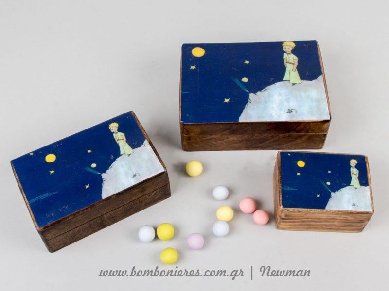 Ξύλινα κουτιά handmade wooden boxes little prince