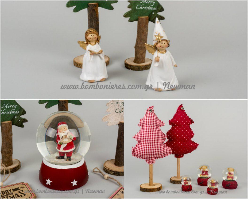 χριστουγεννιάτικα δέντρα, χιονόμπαλες, αγγελάκια xristougenniatika dentrakia aggelakia xionompales