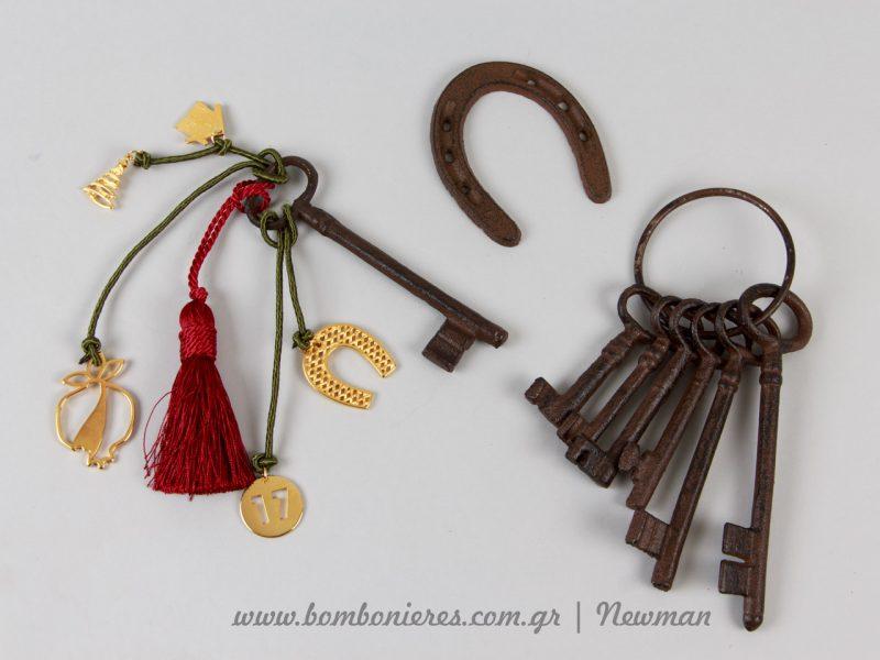 Πέταλο και σετ με κλειδιά, σιδερένια