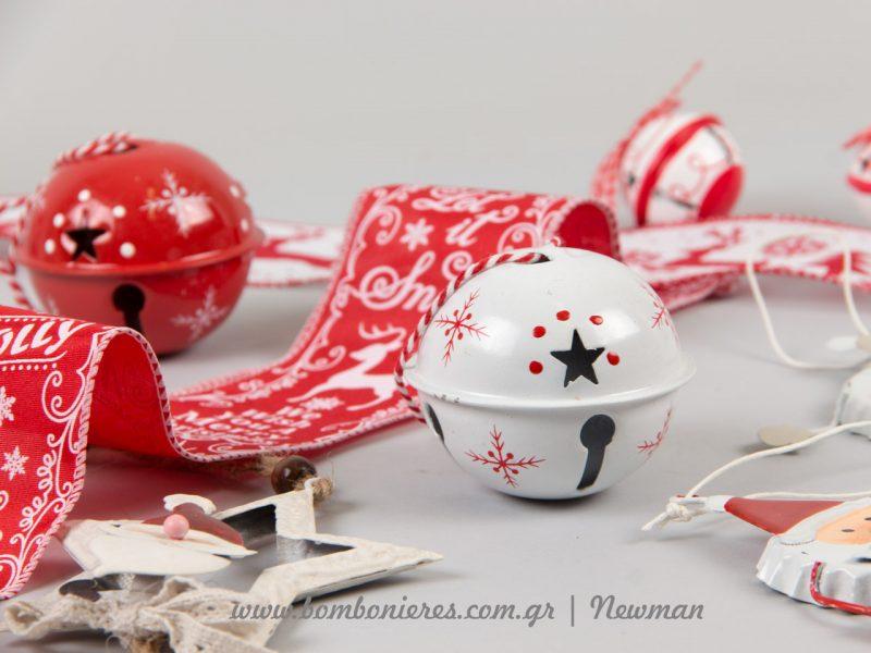 Χριστουγεννιάτικο λευκό κουδούνι