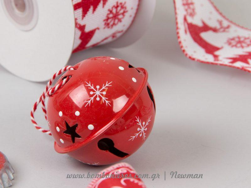 Χριστουγεννιάτικο κόκκινο κουδούνι