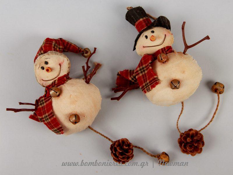 κρεμαστοί χιονάνθρωποι kremastoi xionanthropoi snowmen