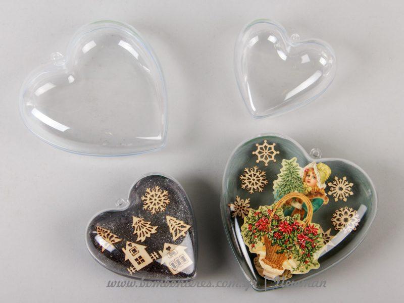 Πλαστικές καρδιές που ανοίγουν στη μέση DIY