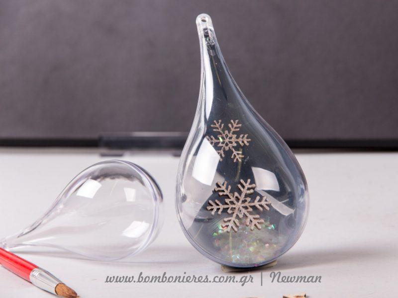πλαστικά διάφανο δάκρυ που ανοίγει στη μέση plastika stolidia anoigoun sti mesi