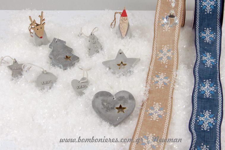 Τσιμεντένια στολίδια και κρεμαστά κρύσταλλα tsimentenia stolidia kristalla