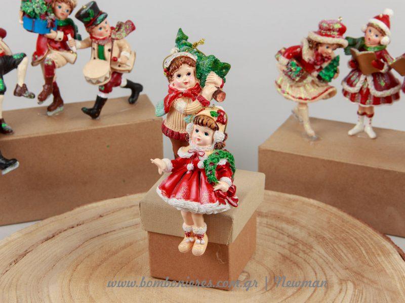 Vintage χριστουγεννιάτικες φιγούρες παιδιών