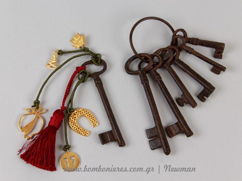 Γούρια με vintage κλειδιά gouria kleidia vintage