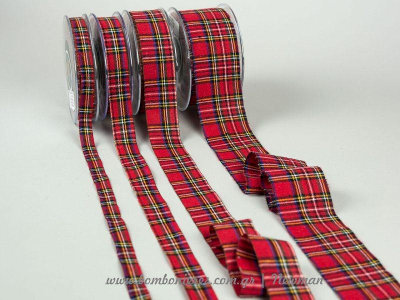 Καρώ κόκκινες κορδέλες για τα Χριστούγεννα kordeles karo gia Xristougenna