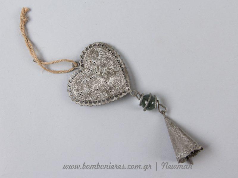 Μεταλλική κρεμαστή καρδιά metalliki kremasti kardia