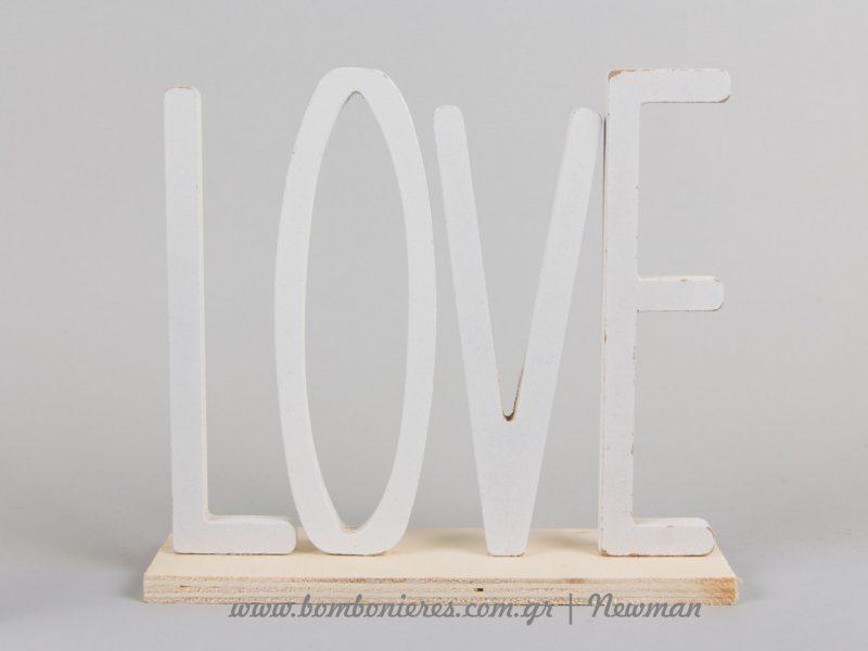 Επιτραπέζιο διακοσμητικό love kiss grey decoration