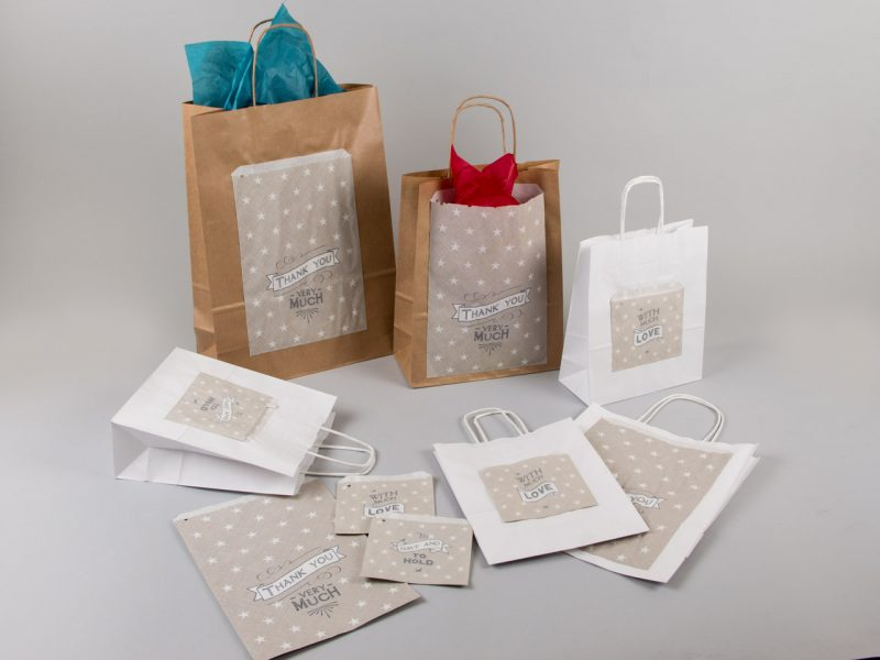 DIY συσκευασίες με χάρτινες τσάντες και σακούλες paper bags grey quotes