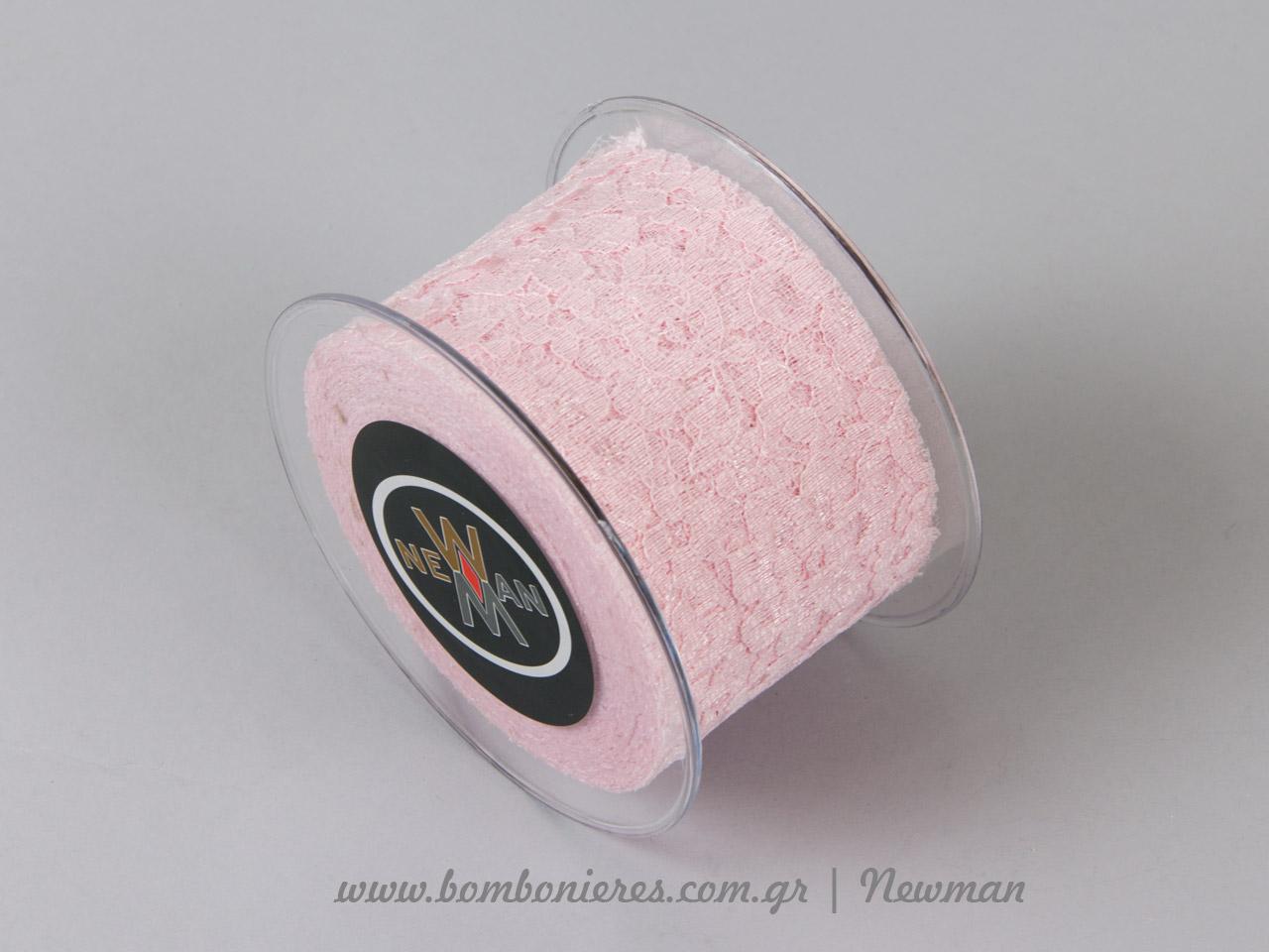 venezzia dantela 67mm 092065 δαντέλα ροζ