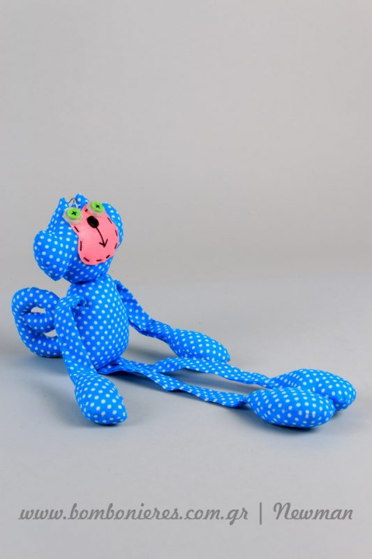 Μαϊμού μπρελόκ ύφασμα mprelok maimoudakia pithikakia floral ifasma