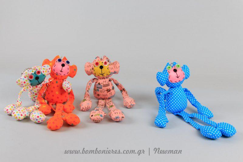 Μαϊμούδες μπρελόκ ύφασμα mprelok maimoudakia pithikakia floral ifasma