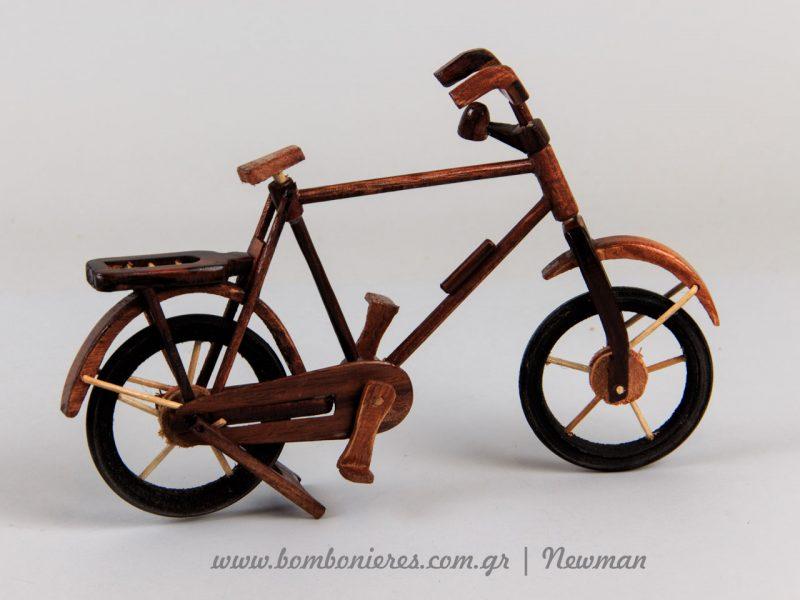 Ξύλινο ποδήλατο xilino podilato