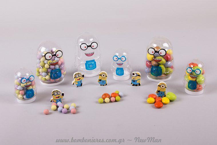 Μπομπονιέρα Minions για μικρά και μεγάλα παιδιά