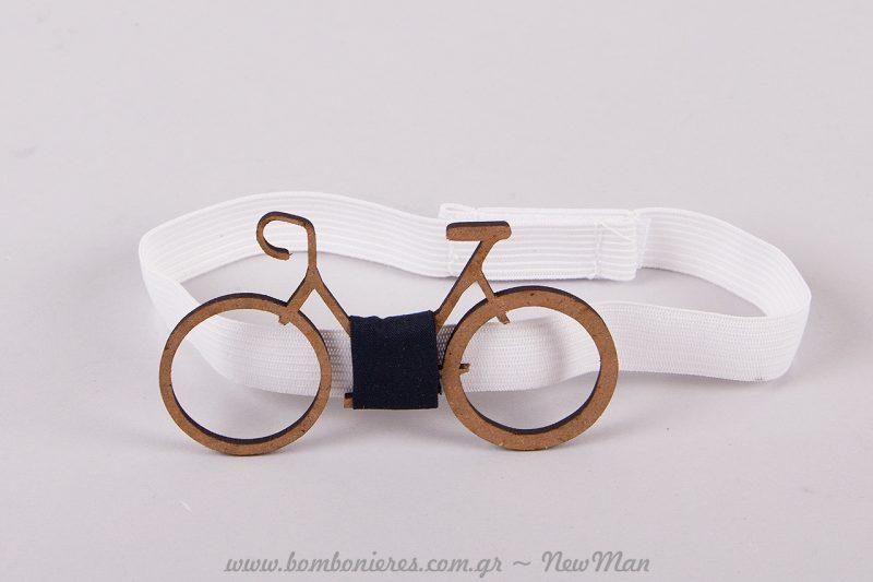 Ξύλινο Παπιγιόν Ποδήλατο Βαφτιστήρι