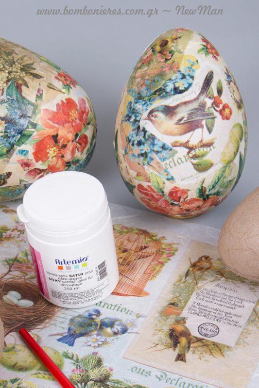 Δημιουργήσετε τα δικά σας πασχαλινά αυγά με την μέθοδο ντεκουπάζ!
