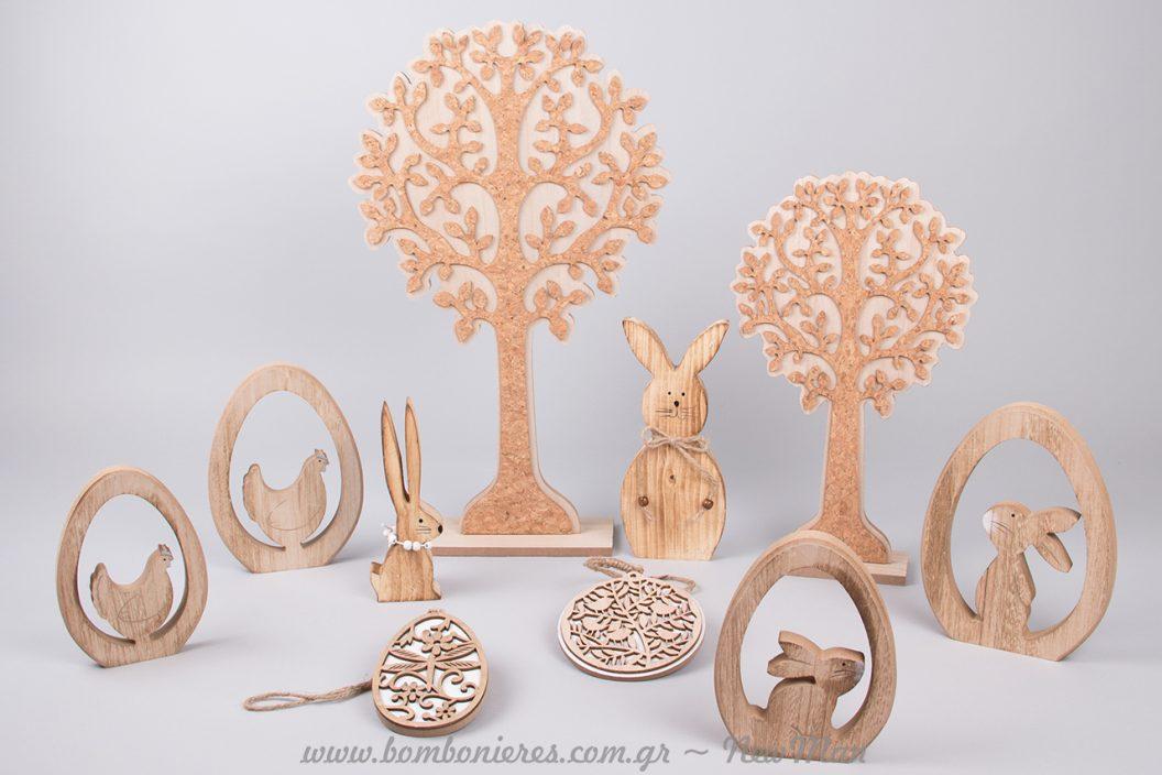Πασχαλινά ξύλινα διακοσμητικά
