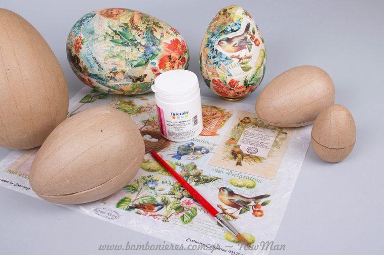 Ρομαντική διάθεση σε πασχαλινά αυγά με την μέθοδο ντεκουπάζ