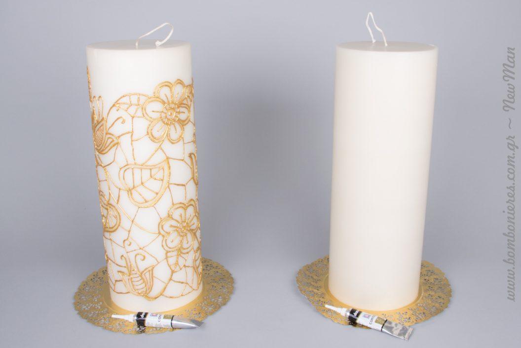 Χρησιμοποιήστε το κερί ως καμβά κι αφήστε την φαντασία σας ελεύθερη για την δημιουργία μοναδικών πρωτότυπων σχεδίων.