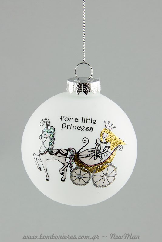 Γυάλινη μπάλα «For a Little Princess» (380390).