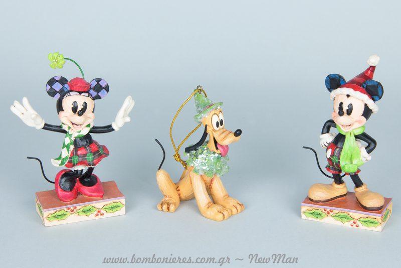 Κρεμαστά στολίδια, Mickey, Minnie και Pluto σε υπέροχα χρώματα και σχέδια.