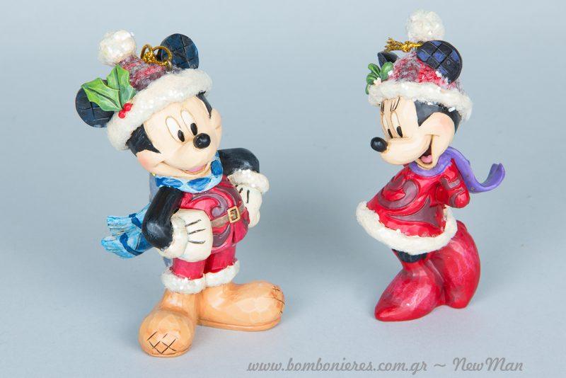 Κρεμαστά στολίδια Sugar Coated Minnie και Mickey.