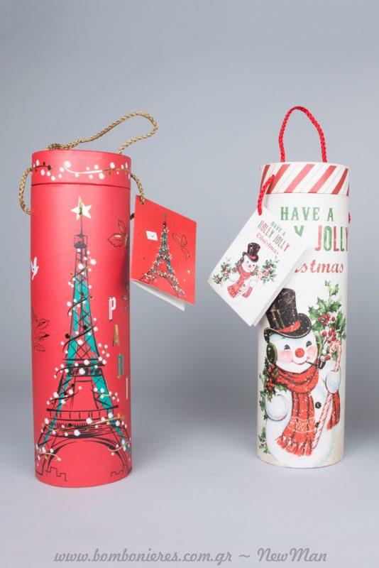 Χριστουγεννιάτικα Συσκευασίες Κρασιών - Wine Tubes