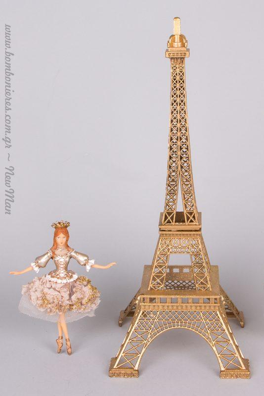 Ο Πύργος του Άιφελ σε χρυσό θα προσδώσουν έναν κοσμοπολίτικο αέρα στο χριστουγεννιάτικο στολισμό σας.