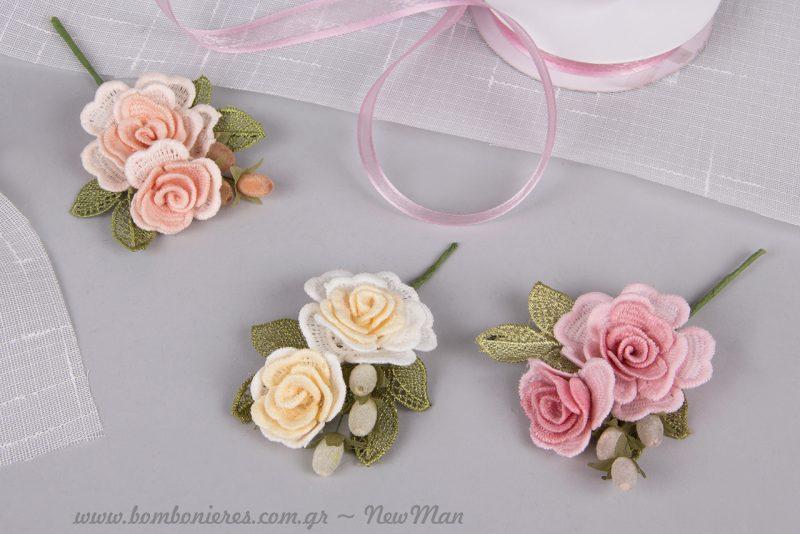 Τριαντάφυλλα, το λουλούδι της ρομαντικής αγάπης για την μπομπονιέρα του γάμου σας.