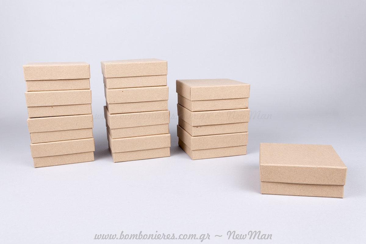 Χάρτινα κραφτ κουτιά – 10x10x4cm
