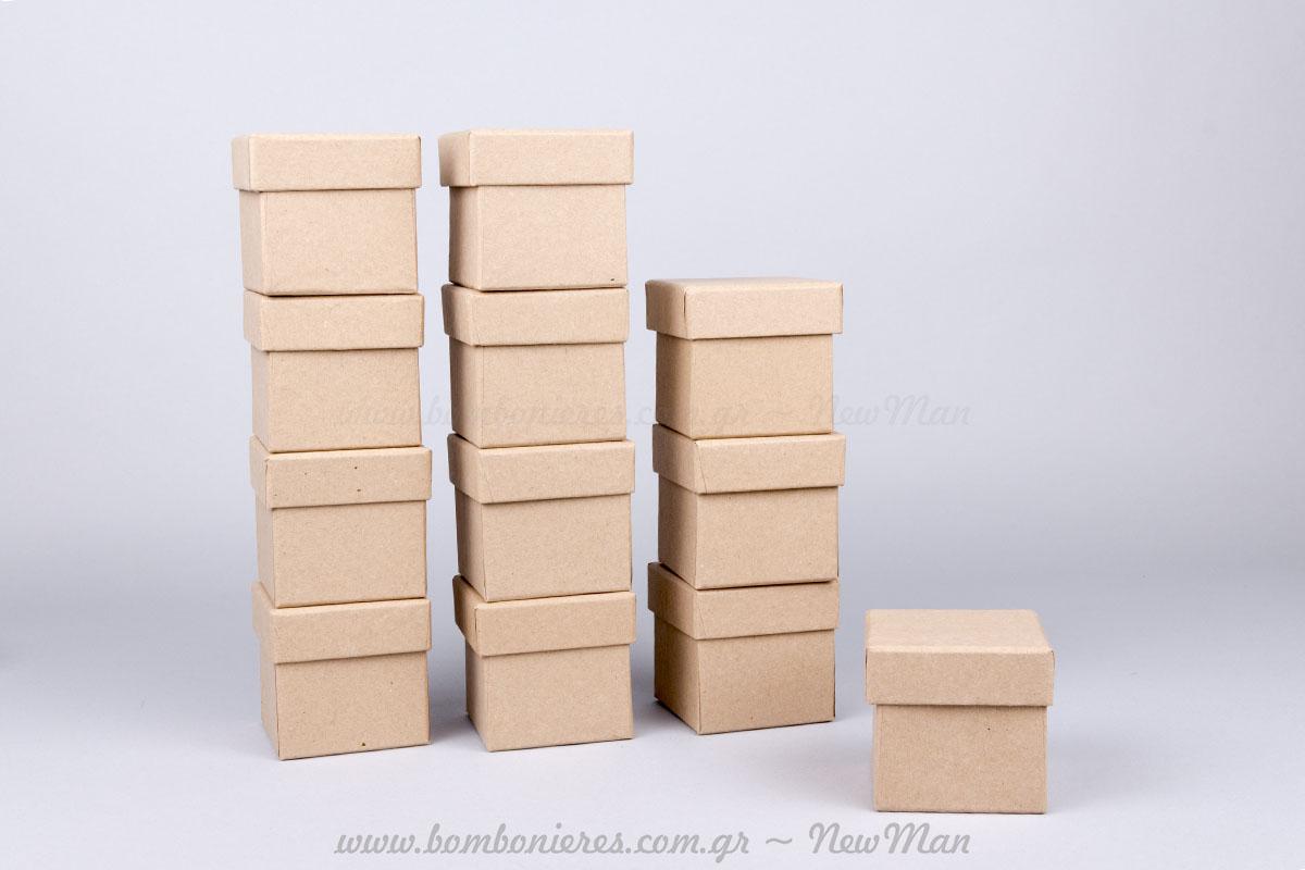 Χάρτινα κραφτ κουτιά – 6x6x6cm