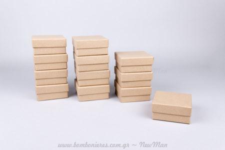 Χάρτινα κραφτ κουτιά – 8x8x4cm