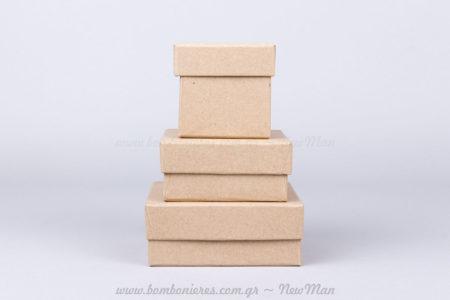 Χάρτινα κραφτ κουτιά