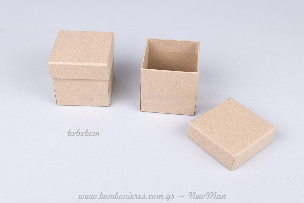 Χάρτινα κραφτ κουτιά – 6x6x4cm