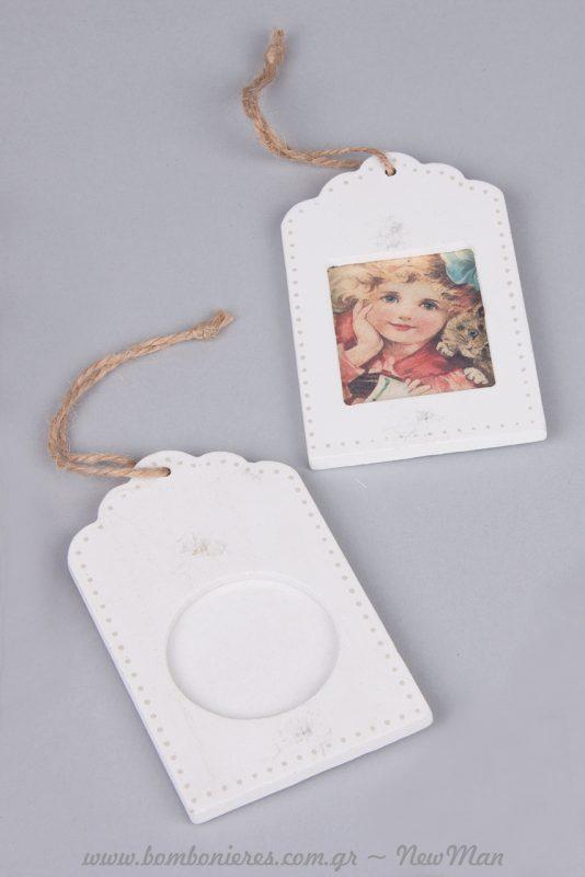 Ξύλινες φωτογραφοθήκες σε λευκό χρώμα (διατίθενται σε συσκευασία των 2 τεμαχίων).