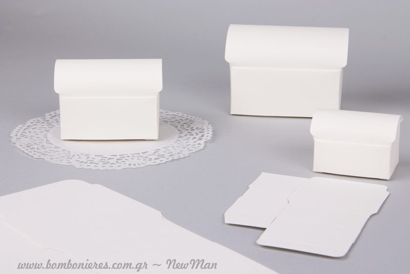 Χάρτινα μπαουλάκια για την μπομπονιέρα του γάμου σας. Είναι και οικονομικά και πολύ κομψά.