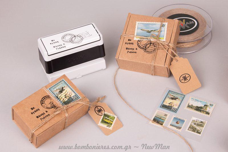 Customized σφραγίδες με το όνομα, το μήνυμα, την ημερομηνία, το σχέδιο ή σχήμα που επιθυμείτε.