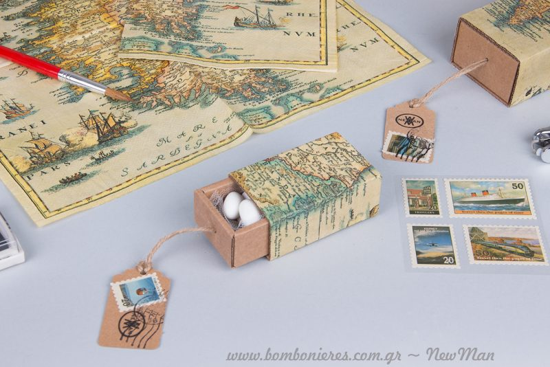 DIY χαρτο-μπομπονιέρες με την μέθοδο ντεκουπάζ.