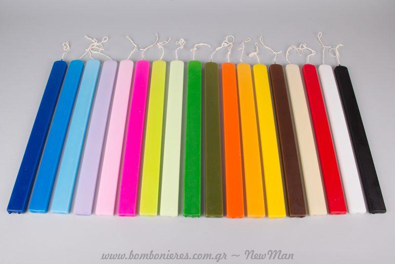 Κεριά πλακέ (36 x 3 x 1.2cm) υψηλής ποιότητας και σε πολλές διαφορετικές αποχρώσεις (κωδ. 180234).