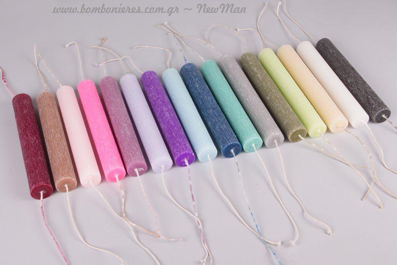 Κάθε χρώμα έχει και το δικό του άρωμα: (βανίλια, κακάο, θάλασσα, γιασεμί, λεβάντα κα.).