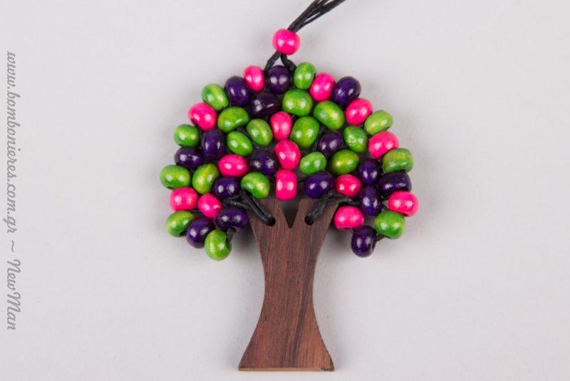 Δέντρο της Ζωής (κολιέ) με πανέμορφες πολύχρωμες χάντρες.