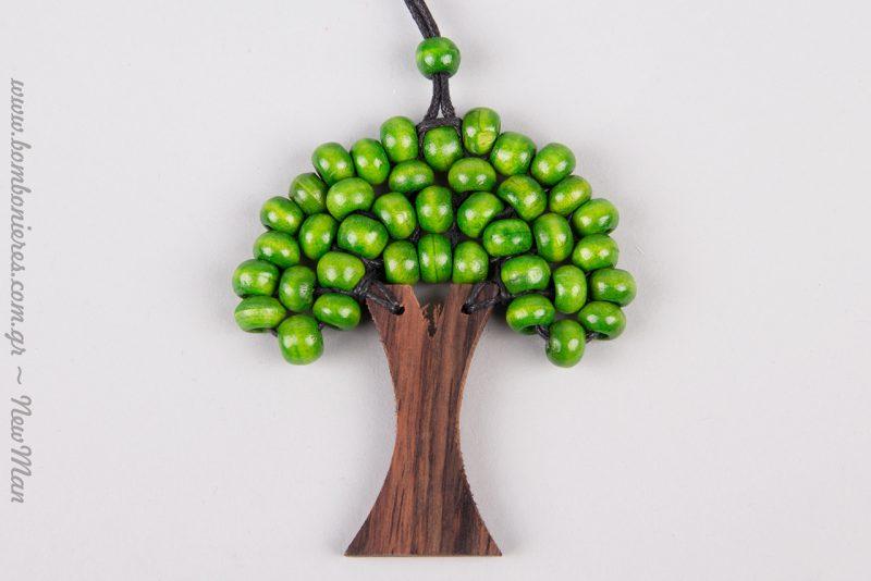 Πράσινο, το χρώμα της ελπίδας για μια συμβολική λαμπάδα με Δέντρο της Ζωής (κολιέ).