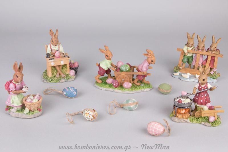 Διακοσμητικοί λαγουδάκια και υφασμάτινα αβγά για την πασχαλινή σας διακόσμηση.