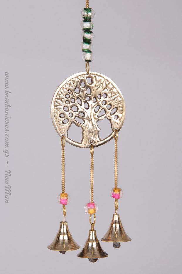 Μεταλλικός μελωδός με Δέντρο της Ζωής, ένα πανίσχυρο σύμβολο, ιδιαίτερα δημοφιλές στον κόσμο του γάμου.