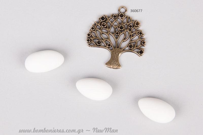 Μεταλλικό Δέντρο της Ζωής σε γλυκιά χρυσαφένια απόχρωση.