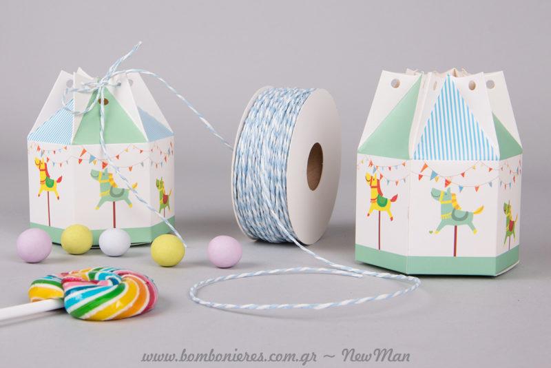 Το κουτί Καρουζέλ έχει υπέροχα σχέδια και χρώματα που θα ενθουσιάσουν μικρούς και μεγάλους.