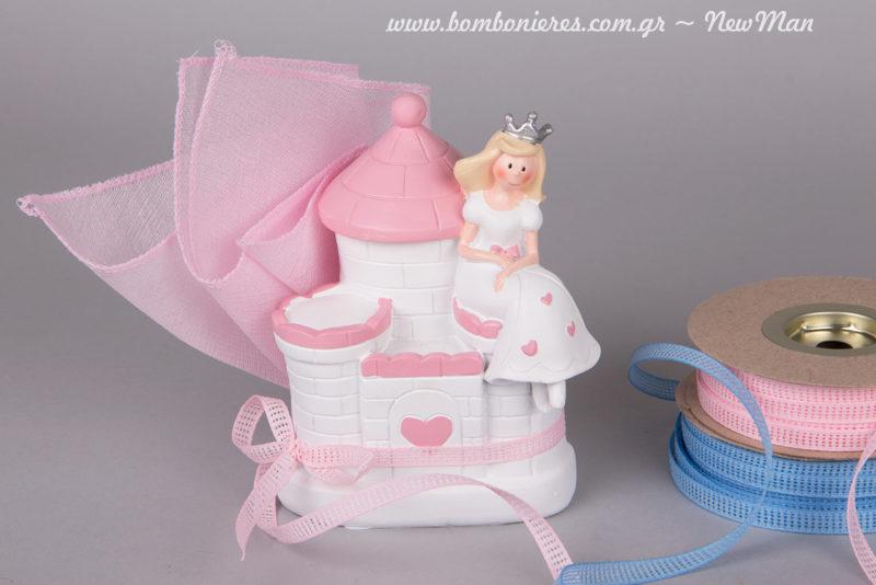 Μπομπονιέρα Πυργόσπιτο Princess για τη βάπτιση της μικρής σας πριγκίπισσας.
