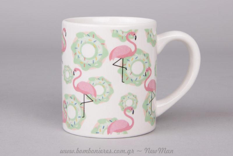 Κούπα με σχέδιο φλαμίνγκο για την μικρή σας πριγκίπισσα.